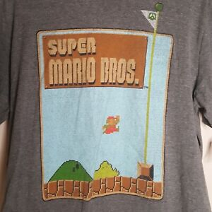 Old Navy Super Mario Bros Size XL Gray T-Shirt