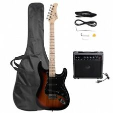 Glarry Gst Electric Guitar Sunset W/ Bag Pick Strap &Accessories