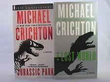 Jurassic Park #1-2: Book Series by Michael Crichton (Complete Set) MM Paperback