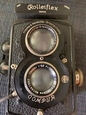 Antique ROLLEIFLEX Franke & Heidecke Compur #404339 Camera w/Leather Case