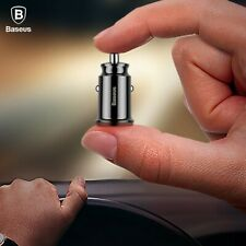 Baseus Mini USB Charger Car Charger Dual USB Power Adapter For Mobile Cell Phone