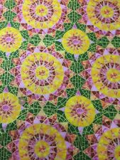 Pink Green Metallic 100% Cotton fabric Quilt Craft Ro Gregg PBS A Star Is Born