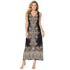 Liz Lange Women's Pullover Stylish Indian Palace-Print Maxi Dress X-Small Sz HSN