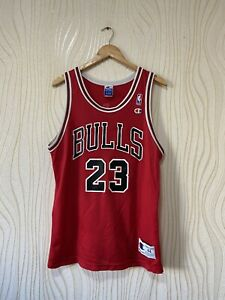 CHICAGO BULLS BASKETBALL SHIRT JERSEY NBA CHAMPION sz 44 MICHAEL JORDAN