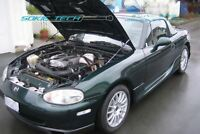 Carbon Fiber Strut Lift Hood Shock Stainless Damper Kit for 15-18 Mazda CX-3 SUV