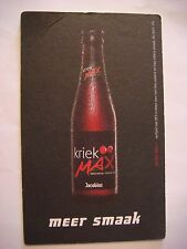 Big Beer Coaster ~*~ Bockor Jacobins Kriek <> Bellegem, West-Vlaanderen, Belgium