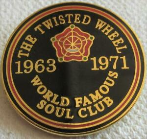 NORTHERN SOUL BADGE - THE TWISTED WHEEL MANCHESTER