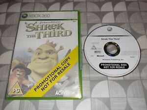 xbox 360 Shrek The Third (Microsoft Xbox 360, 2007) Promotional Copy FULL GAME