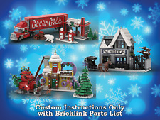 LEGO Winter Village Sets Bundle 3 INSTRUCTIONS ONLY for LEGO Bricks (Christmas)