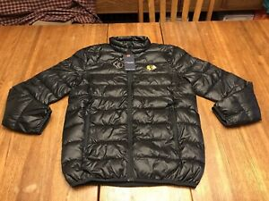 $100 FANATICS CHICAGO BLACKHAWKS NHL HOCKEY PUFFER JACKET BLACK L