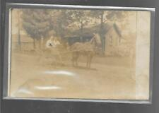 Horse & Buggy on Farm - RPPC - Real Picture Post Card Unused - 1908