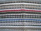 """FARMHOUSE Rag Rug Reversible MultiColor Woven Textile Country 19"""" x 33"""" Made USA"""