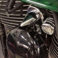 Harley CHROME SPIKE HORN MOUNT COVER nut accent softail big twin decorative