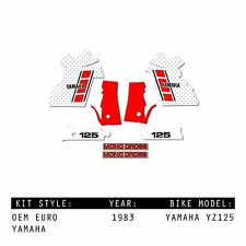 YAMAHA YZ125 1983 OEM MX MOTOCROSS GRAPHICS KIT DECALS STICKERS