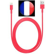 CABLE ROUGE USB CHARGEUR RECHARGE SYNC pour iPhone 5S / 5C / 6 / 6 Plus / iPad
