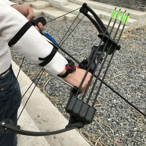 Traditional Compound Bow Black Camo 20lbs Hunting Archery Fishing
