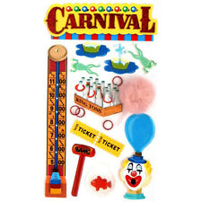 Carnival Fair Midway Games Tickets Cotton Candy State Fair Jolee's 3D Stickers