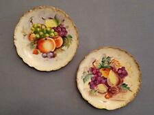 Vintage Hand Painted Ceramic Fruit Plaque's - Set of Two