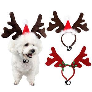 Dog Christmas Reindeer Antlers Headband Costumes Headwear For Cats Puppy Kitten