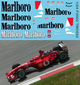 1/24 Decals F1 Ferrari F2002 Michael  Schumacher Decal TBD552
