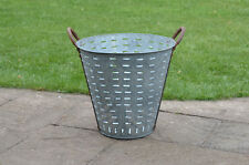 vintage  metal shellfish/olive basket / bucket - lighting - FREE DELIVERY