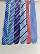 Job Lot Bundle of Ties x 6 neckties F & F various patterns tie stripes