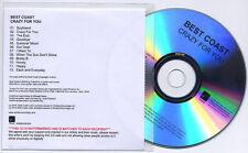 BEST COAST Crazy For You UK 12-trk numbered promo test CD