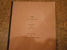 Alien Rare Post-Production Script
