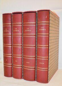 SACRA BIBBIA Antonio Martini 4 volumi 1963 Xilografie Encyclopaedia Britannica
