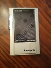 Vintage Panasonic Mini Cassette Recorder Player Rq-340 Auto Stop Japan