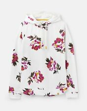 Joules  211147 Bci Cotton Fitted Hooded Pull Over Sweatshirt - Cream Peony