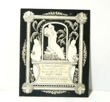 More details for victorian 1908 james brydon elswick funeral memoriam pierced embossed  card