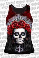 T Shirt tattoo Skull Motorcycle no Harley Biker tattoo lethal Angel  tank top