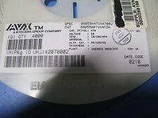 AVX CAPACITOR # 08055A471KAT2A   0805 10% 470PF 50V   4000 PC REEL