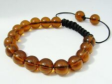 Shamballa bracelet  all 10mm  BROWN GLASS beads