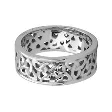 Sz 6 ring Stainless Steel Celtic Triquetra