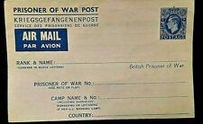 BRITISH PRISONER OF WAR POST - AIR MAIL...KRIEGSGEFANGENENPOST  2 of 2