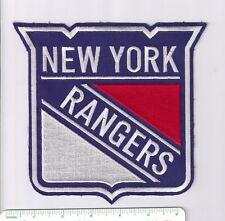 "7"" New York Rangers NHL iron-on patch > hockey jersey crest"