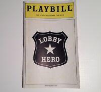 Playbill Lobby Hero 2001 John Houseman Theatre Tate Donovan Heather Burns
