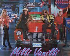 MILLI VANILLI - A2 Poster (XL - 42 x 55 cm) - Clippings Fan Sammlung NEU