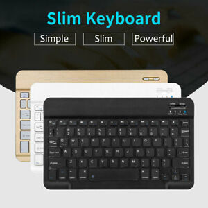 """Slim Univesal 10"""" Wireless Keyboard Portable For IOS Android Windows Tablet PC"""