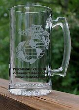 Personalized USMC MARINE CORPS EGA, SEMPER FI Beer Mug, Military Gift, 27.25oz