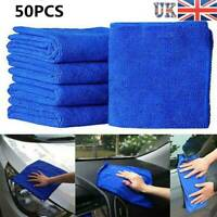 50PCS Microfibre Auto Car Cleaning Clothes Detailing Soft Duster Washing Towels