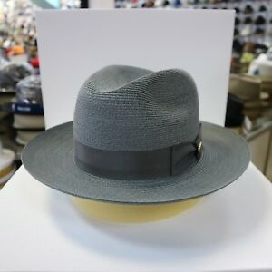 BILTMORE GENUINE MILAN DARK GREY FEDORA DRESS HAT