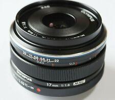 Olympus M.ZUIKO 17mm f/1.8 Micro Four Thirds M4/3 (Black Color)