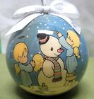 PRECIOUS MOMENTS Christmas ornament Enesco 1995 teardrop eye dolls Snowman