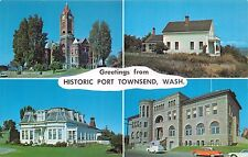 Port Townsend Washington Greetings~Multi Photo Postcard 1960s