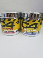 Cellucor C4 Ripped Fruit Punch + C4 Original Icy Blue Razz Pre-Workout stack