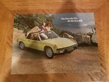 1973  PORSCHE  914  SALES  BROCHURE  ORIGINAL