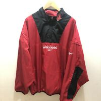 Men's VTG 90's Reebok Wisconsin Badgers Half Zip Pull Over Jacket Sz XXL Nylon